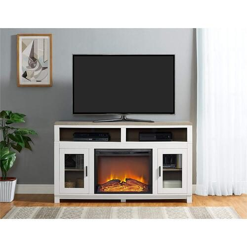 "Ameriwood Home Carver Electric Fireplace TV Stand for TVs up to 60"" Wide"