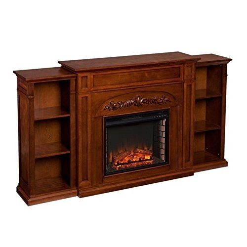 Southern Enterprises Chantilly Electric Fireplace with Bookcase