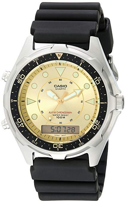 Casio Men's AMW320D-9EV Ana-Digi Alarm Chronograph Dive Watch