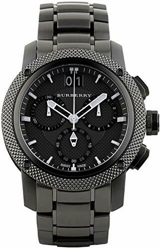 Authentic Swiss Burberry TOP Luxury Watch Chronograph Men Women Endurance Collection Black Stainless Steel BU9801