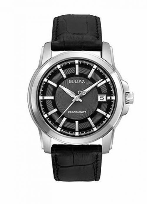 Bulova Men's 96B158 Precisionist Leather Strap
