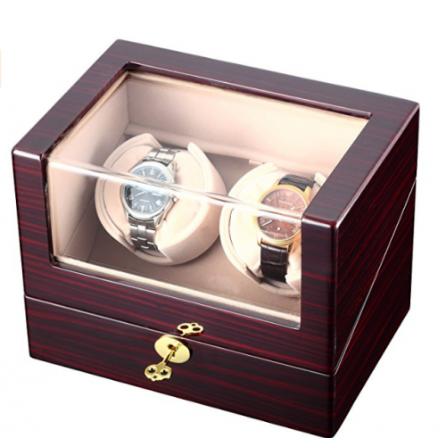 CHIYODA Automatic Double Watch Winder Programmed LCD Touch Screen
