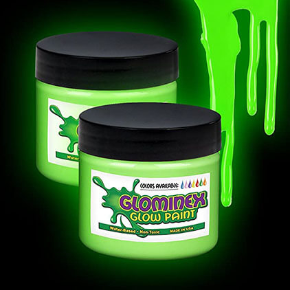 Glominex I01 Glow in The Dark Paint - 1 Ounce Tube - Pink