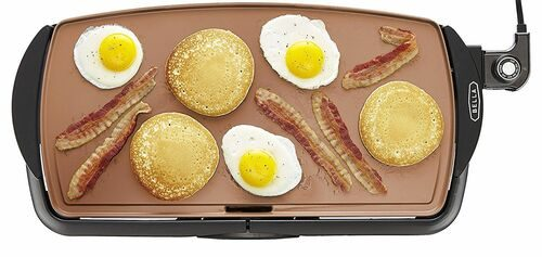 Bella 14606 Copper Titanium Non-Stick electric griddles, 10.5 x 20 inch