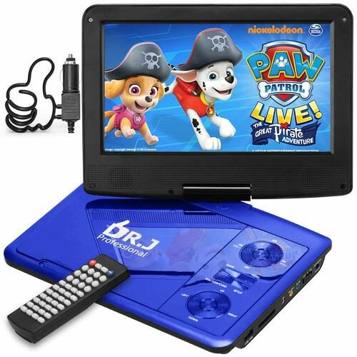 "Dr. J 9.5"" Portable DVD Player — Best Car Portable DVD Player for Affordable Price with Standard Features"