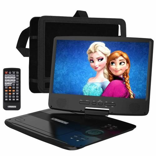 "HD Juntunkor 12.5"" Portable DVD player — Best Dual Portable Operating System DVD Player for Car"