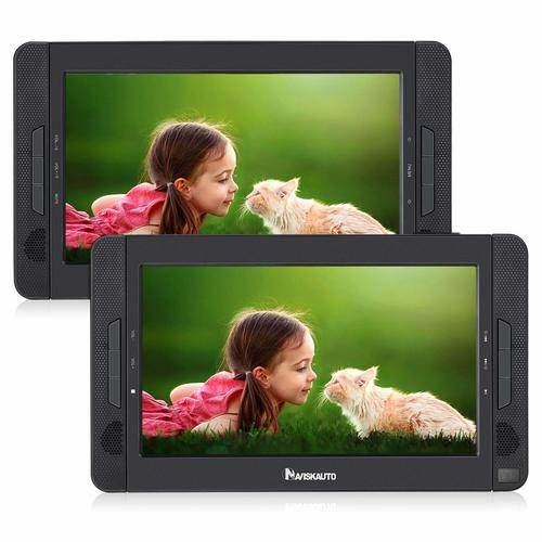 NAVISKAUTO Portable DVD Player for Car — High-Quality Dual Screen Car DVD Players