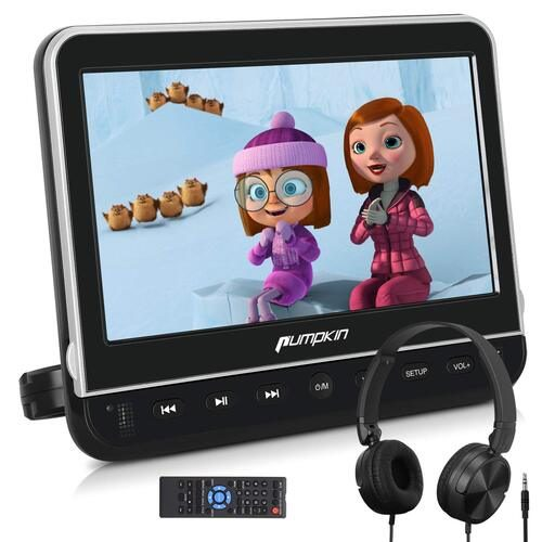 "PUMPKIN 10.1"" Car Headrest DVD Player — Best Flip Down DVD Player for Car"