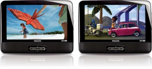 """Philips PD9016 9"""" Dual Portable DVD Player (Renewed) — Best Refurbished Dual DVD Car Players"""