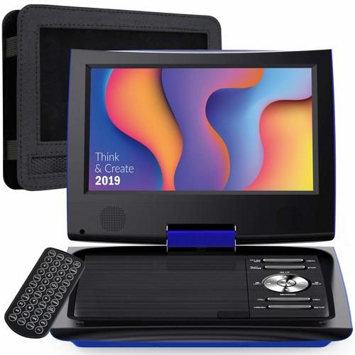 "SUNPIN 9.5"" Portable DVD Player for Car and Kids — The Best Car DVD Player for Multiple Children"
