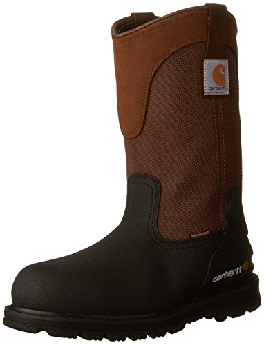 "Carhartt Men's 11"" Wellington Waterproof Steel Toe Leather Pull-On Work Boot"