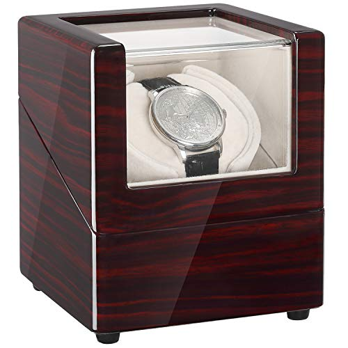 CHIYODA Single Wooden Watch Winder with Quiet Motor