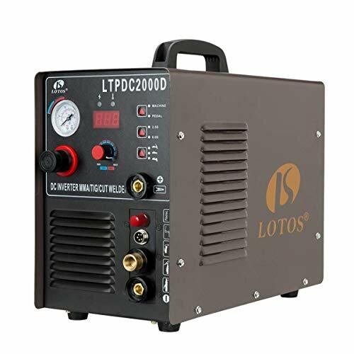 Lotos Technology 04-ZVGR-0O8D Lotos LTPDC2000D Plasma Cutter Tig Stick Welder 3 in 1