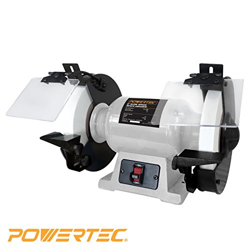 POWERTEC BGSS801 Slow Speed Bench Grinder,