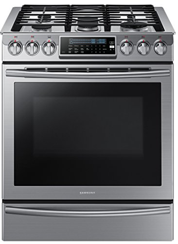 Samsung NX58H9500WS Stainless Steel Slide-In Gas Range with 5 Sealed Burners