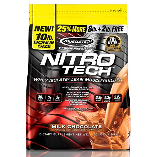 MuscleTech NitroTech Protein Powder Lean Muscle Builder