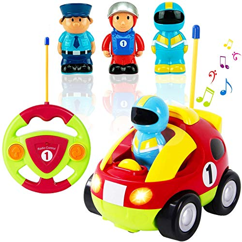Cartoon Race Car Radio Control Toy for Toddlers by Liberty Imports