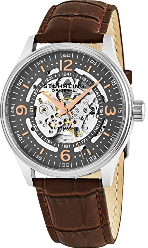 Stuhrling Original Delphi Automatic Watch With Grey Skeleton Dial