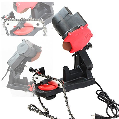 ELECTRIC GRINDER CHAIN SAW BENCH SHARPENER VISE MOUNT W/GRIND CHAINSAW WHEEL