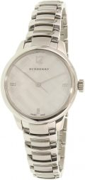 Burberry Women's Classic Round BU10110 Silver Stainless-Steel Swiss Quartz Watch