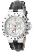 BVLGARI Diagono Chrono Gray Dial Automatic Winding K18WG Alligator Leather Men Watch...