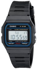 Casio F91W-1 Casio Resin Digital Watch