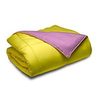 Cozy Beddings Reversible Down Alternative 3 Piece Comforter Set, King/Cal King, Purple/Yellow