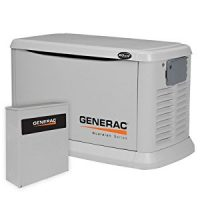 Generac 6244 20,000 Watt Air-Cooled Aluminum Enclosure Liquid Propane/Natural Gas Powered Standby...