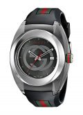 Gucci SYNC XXL YA137101 Stainless Steel Watch with Black Rubber Bracelet