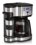 Hamilton Beach Single Serve Coffee Brewer and Full Pot Coffee Maker, 2-Way...