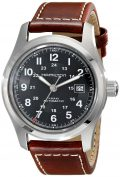 Hamilton Men's H70555533 Khaki Field Stainless Steel Automatic Watch with Brown Leather...