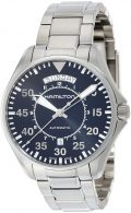 Hamilton Men's 'Khaki Aviation' Swiss Automatic Stainless Steel Dress Watch, Color:Silver-Toned (Model:...