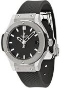 Hublot Classic Fusion Black Dial Black Rubber Ladies Watch 581.NX.1170.RX