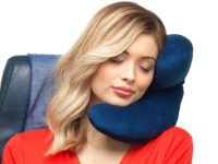 J Pillow Travel Pillow, Head, Chin and Neck Support, British Invention of...