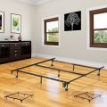 King's Brand 7-Leg Heavy Duty Adjustable Metal Bed Frame with Center Support...