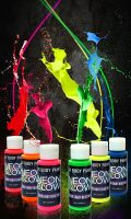 Neon Glow in the Dark (Body Art Paint) #1 Premium Set (6...
