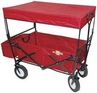 On The Edge 900124 Red Folding Utility Wagon With Handle Children /...