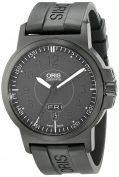 Oris Men's 73576414764RS BC3 Sportsman Day Date Black DLC Case and Rubber...