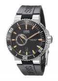 Oris Men's 74376734159RS Aquis Analog Display Swiss Automatic Black Watch