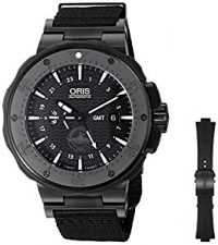 Oris Men's 'Force Recon Gmt' Swiss Automatic Titanium and Rubber Dress Watch,...