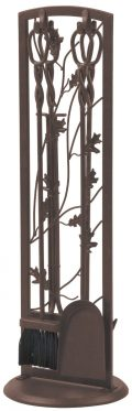 Panacea Fireplace Tool Set 5 Piece, Oak Leaf 30