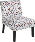 Red Hook Martina Contemporary Upholstered Armless Accent Chair - Floral
