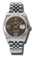 Rolex Oyster Perpetual Datejust 36mm Stainless Steel Case, Screw-Down Crown, Stainless Steel...