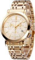 SALE! Authentic Burberry Trench LUXURY Unisex Mens Womens Gold Chronograph Watch Date...