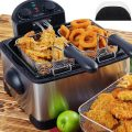 Secura 4.2L/17-Cup 1700-Watt Stainless-Steel Triple-Basket Electric Deep Fryer, with Timer Free Extra...