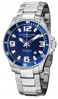 Stuhrling Original Men's 395.33U16 Aquadiver Regatta Analog Swiss Quartz Stainless Steel Link...