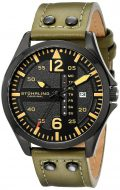 Stuhrling Original Men's 699.03 Aviator Quartz Day and Date Watch With Green...