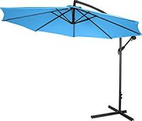 Trademark Innovations Deluxe Polyester Offset Patio Umbrella - 10' (Teal)