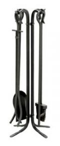 Uniflame, F-11140, 5-Piece Wrought Iron Toolset, Black