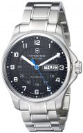 Victorinox Men's 241591 Officers Analog Display Swiss Automatic Silver-Tone Watch